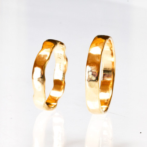 Fairmined, Hammered Wedding Rings