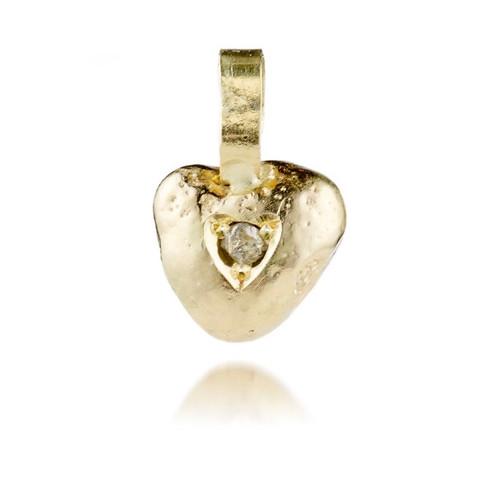 Rough Diamond Heart Pendant