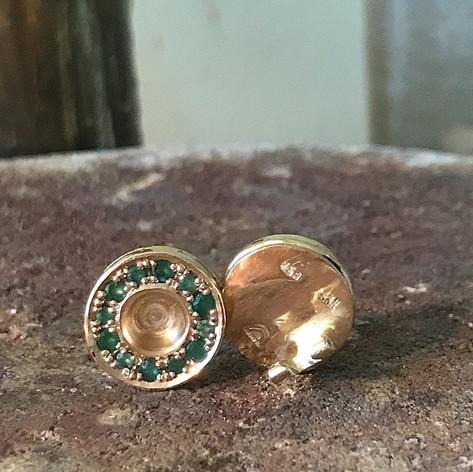 Emerald Earrings in Fairmined Gold