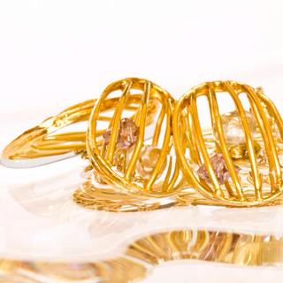 Rough Diamond Gold Cufflinks