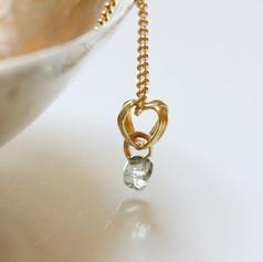 Rough diamond pendant