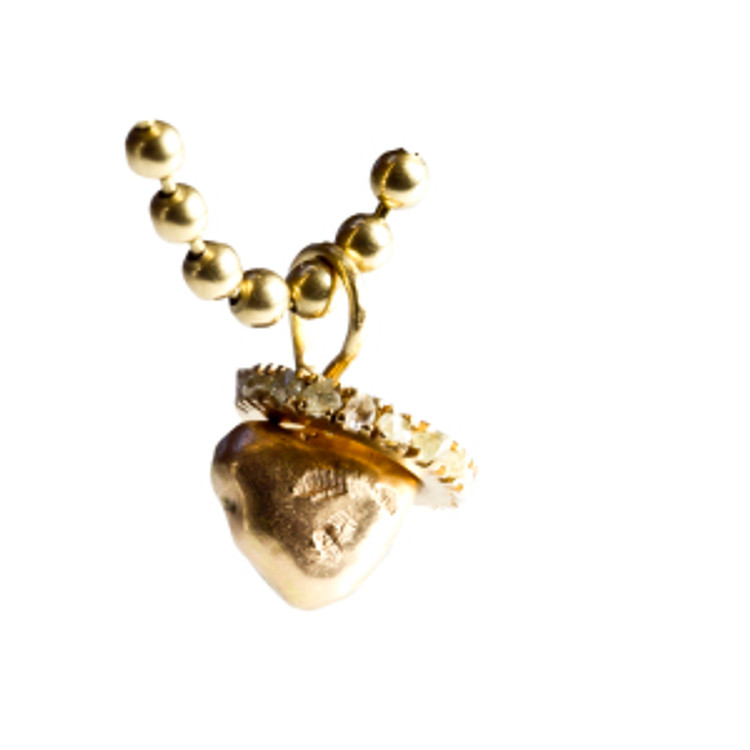 Gold heart Fairtrade & Fairmined gold - Liqhobong rough diamonds
