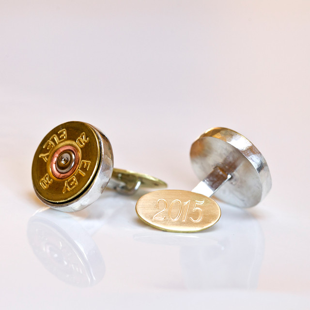 Shooting Cufflinks with gold back
