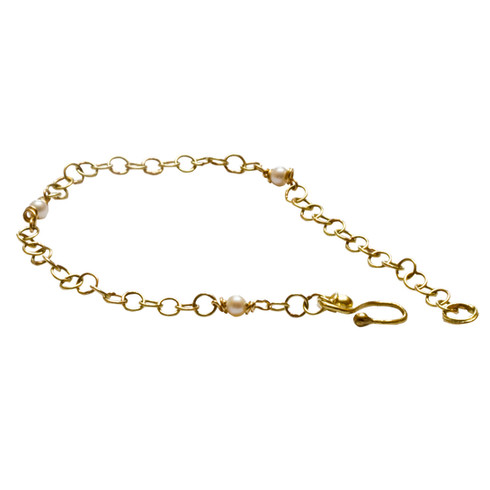 Gold Chain with Pearls