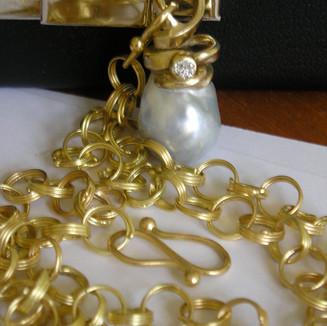 Håndlavet guldhalskæde