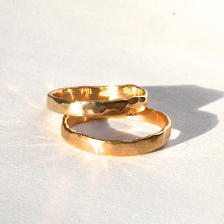 Hammered Fairmined Gold Rings