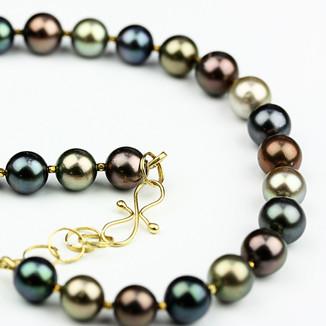 Multi-colour Tahiti Pearl Necklace