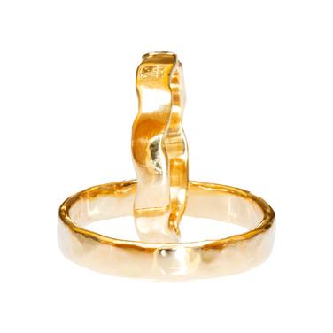 Hammered Wedding Rings