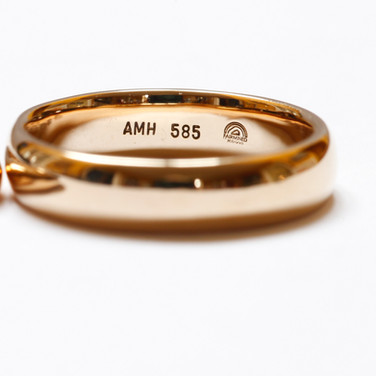 Handcrafted, Fairmined Wedding Rings