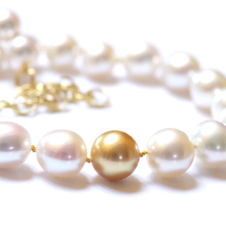 White and Golden South Sea Necklace