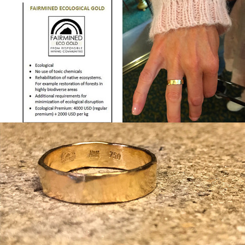Hammered Fairmined Eco Gold Ring