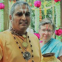 with Paramahamsa Vishwananda during a temple inauguration in Johannesburg, South Africa - Holamundo