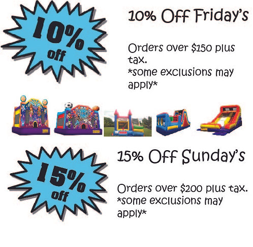 Friday & Sunday Discount