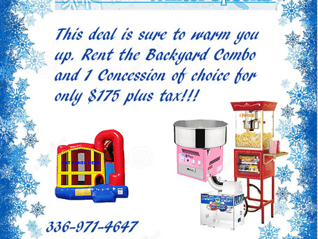 Fall and Winter Bounce House Rentals!