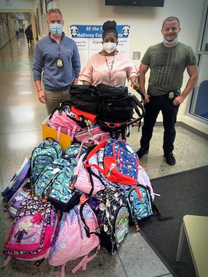 Bookbags for Olde Orchard Elementary