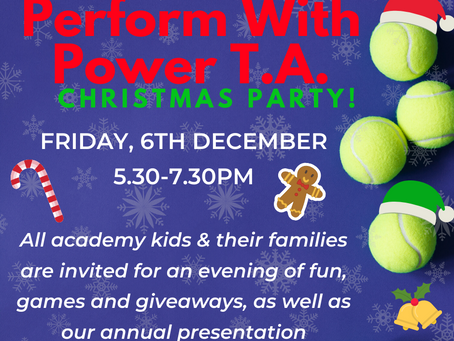 You're Invited to the Perform With Power T.A. Christmas Party!