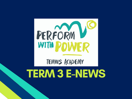 Welcome to Term 3 tennis!