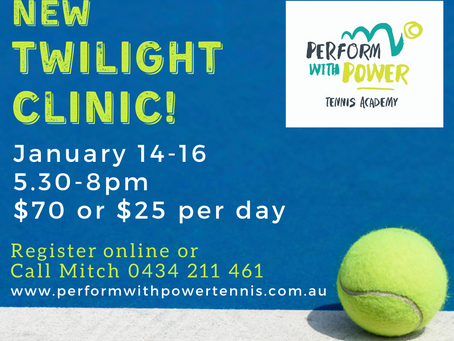 Register now for PWPTA's FIRST EVER twilight clinic!