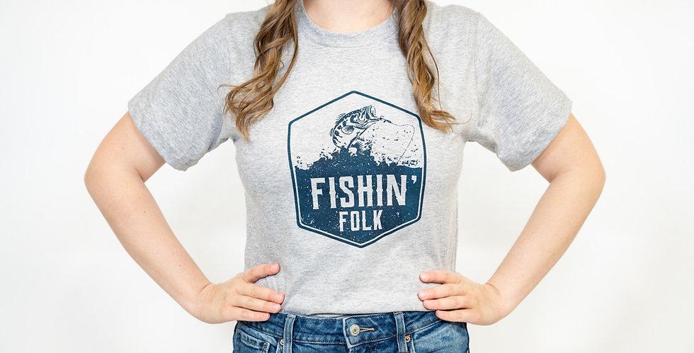 'Fishin' Folk' T-Shirt- Made in Canada