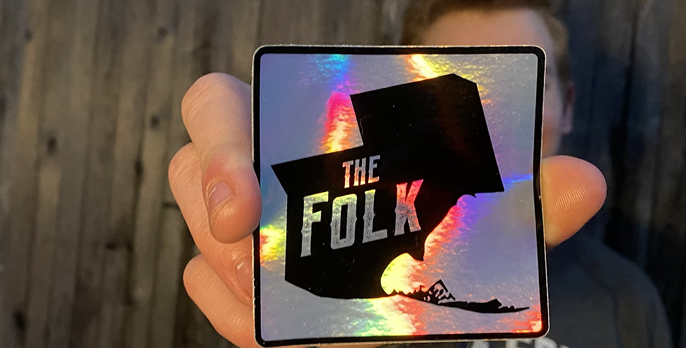 Holographic Folk Sticker
