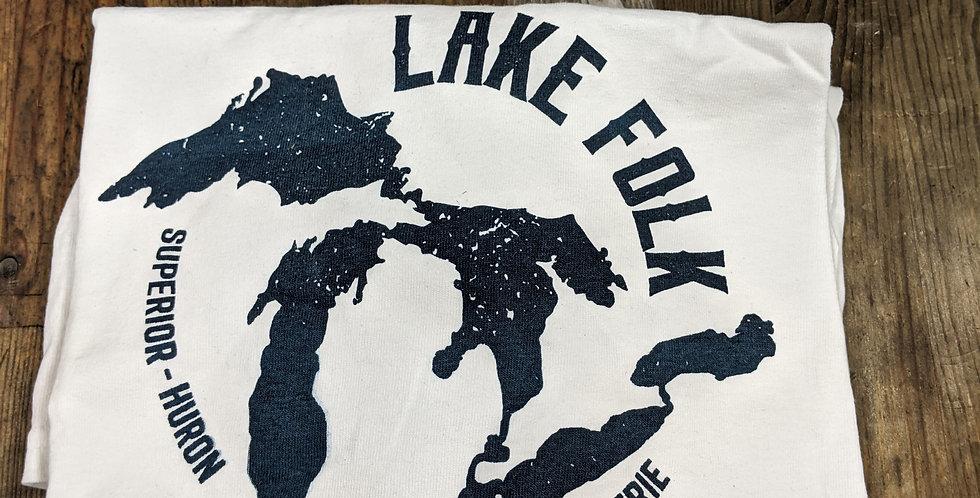 Small Stain Lake Folk Long Sleeve - XL