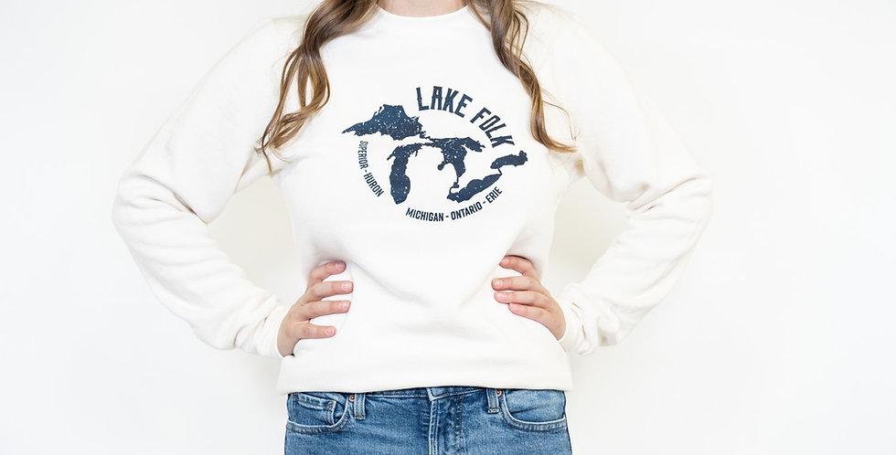 'Lake Folk' Crewneck- Made in Canada