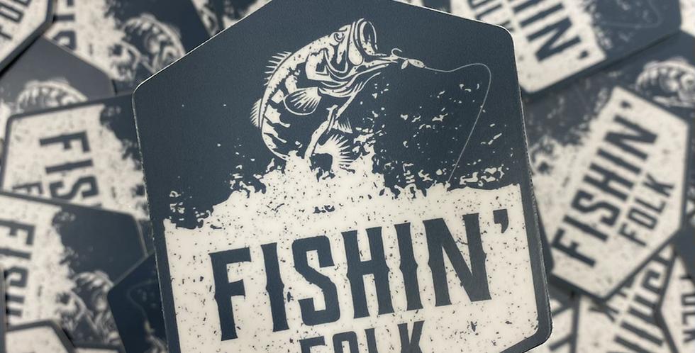 'Fishin' Folk Sticker