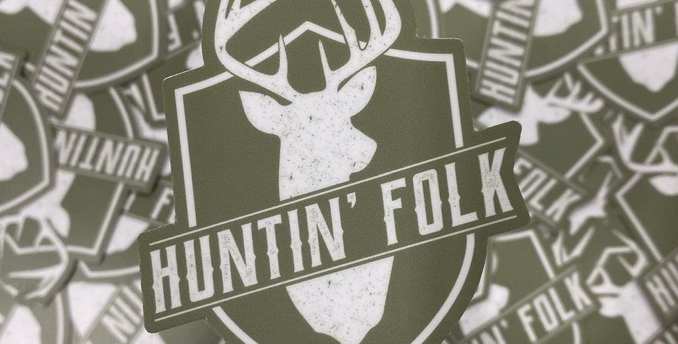 'Huntin' Folk' Stickers