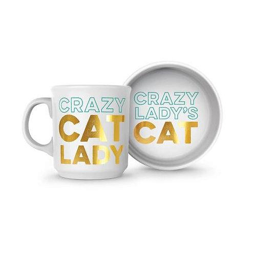 Cat Bowl & Mug Set