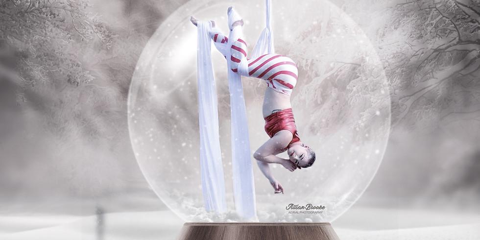 Snow Globe Aerial Photoshoot