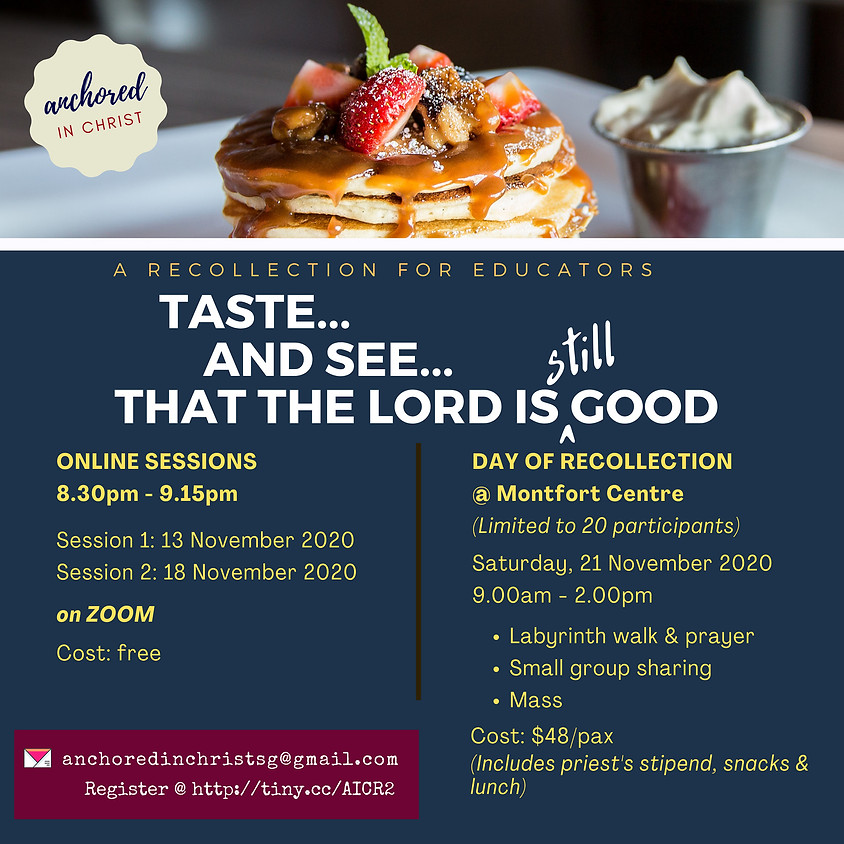 Taste and see that the Lord is still good