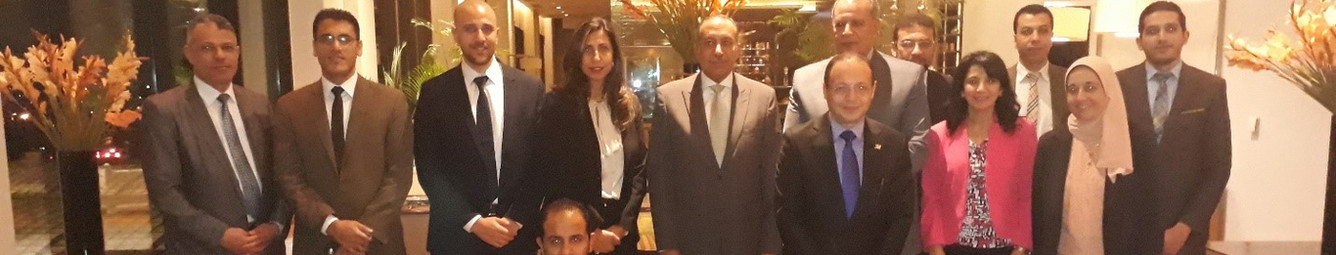 STS and AlOULA - El Tammer For Mortage Finance Co Management team celebrating the Mortgage Finance Application sign off in 2018.