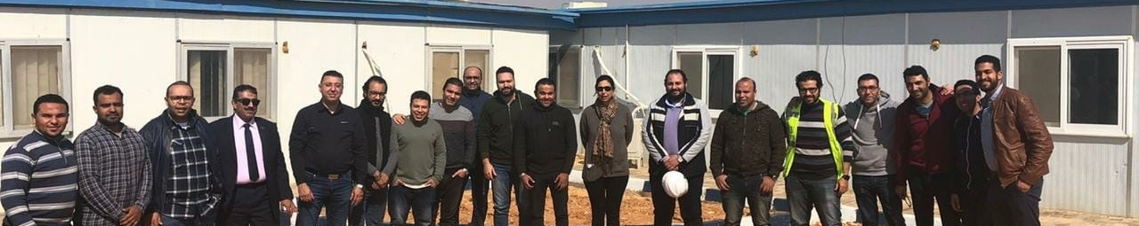 STS team at one of STS projects' sites in Cairo's New Administrative Capital.