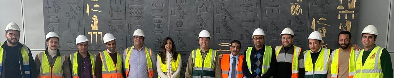 STS team at the Grand Egyptian Museum.