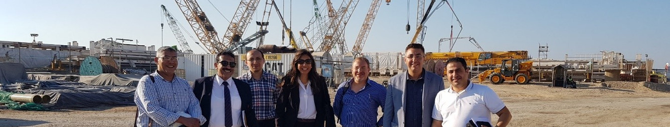 STS team at the Port Said tunnel project.