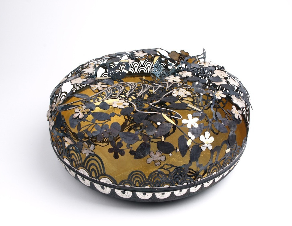 Wish Bowl....fine gold, fine silver, steel.....350x350x160(H)mm........National Gallery of Australia collection.