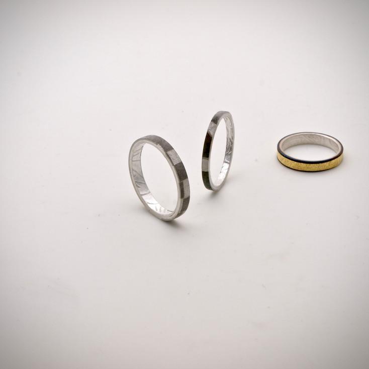 Chogak Rings......fine gold, fine silver, 925silver, monel