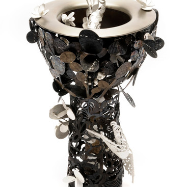 Symphony......fine silver, 925silve, stainless steel, steel...........The Maxweel and Merle Carroll Silver colledtion...........The Arts Centre Melbourne Collection
