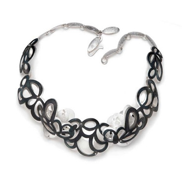 Cloud Flowers Necklace.....fine silver, 925silver, steel......Private collection