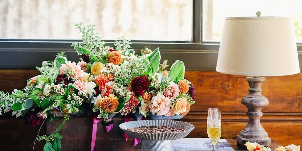 Table Flowers for Shabbat