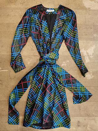 YSL lamé dress