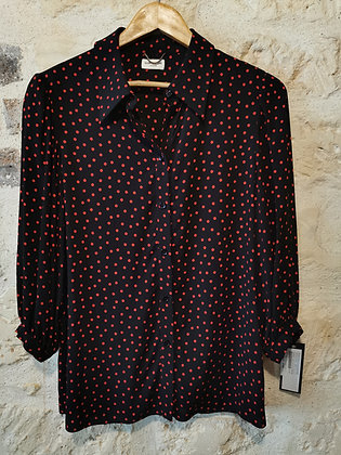 YSL blouse with red dots