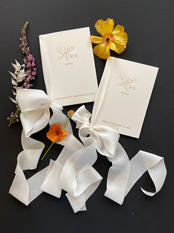 Handmade Vow Books on French paper