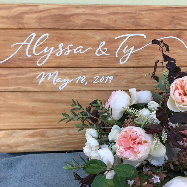 "Wedding ""Welcome Sign"""