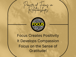 Power of Focus in Relationships! [Subscribe to Your Focused Day Podcast]