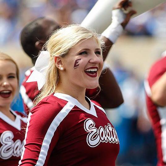 Former cheerleader Hannah C. cheerleader at Eastern Kentucky University