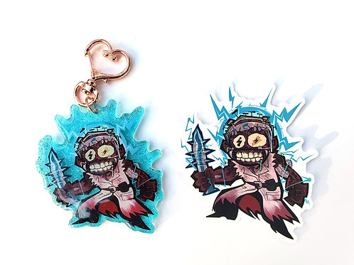 "Doctor Herman Carter 2.5"" acrylic charm + sticker!"