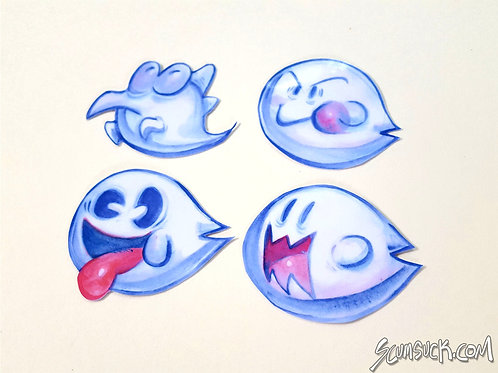 Ghost House Boo sticker set!