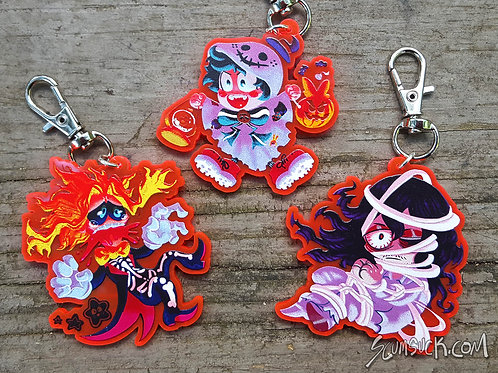 Halloween Deku, All Might, and Aizawa charms!