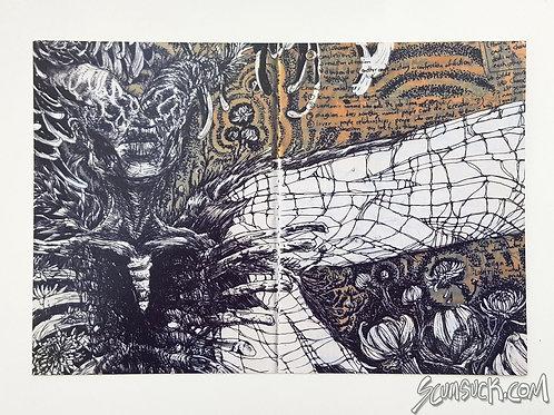 Skeets bugs sketchbook print (4x6)